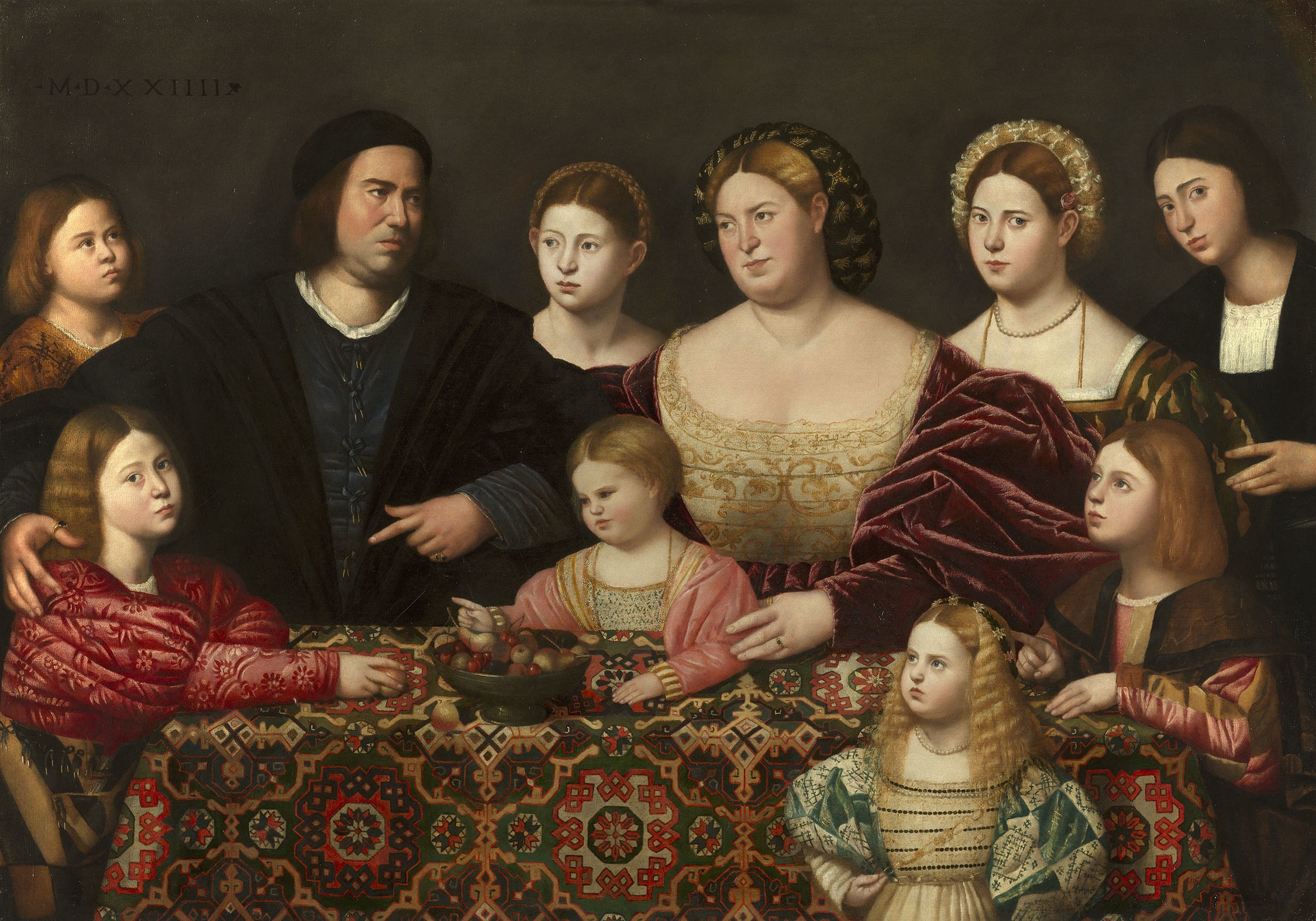 A Family Group by Bernardino