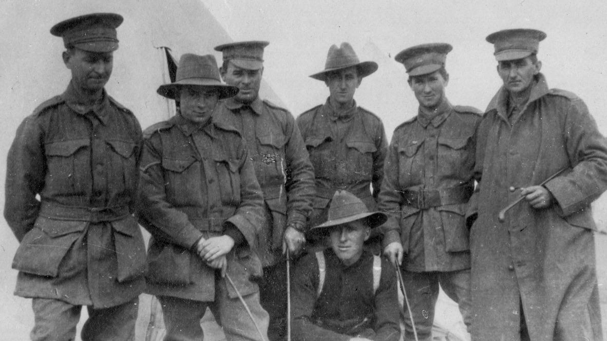 Joan's father William Montgomery (far right)